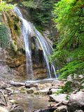 Cachoeira Djur - Djur Alushta, Rússia fotos de stock