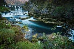 Cachoeira do buk de Strbacki no rio de Una, Bósnia fotografia de stock royalty free
