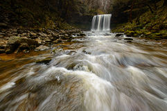 Cachoeira do Eira de Sgwd ano Fotos de Stock Royalty Free