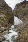 Cachoeira do Horsetail no parque nacional de Ordesa y Monte Perdido imagem de stock royalty free