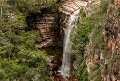 Cachoeira do Mosquito binnen Brazilië in Chapada-Dos Diamantina in de Staat van Bahia wordt gevestigd dat royalty-vrije stock foto