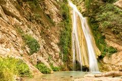 Cachoeira do Neda em Peloponnese Obturador lento usado Fotos de Stock Royalty Free