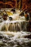 Cachoeira do outono na floresta Fotos de Stock Royalty Free