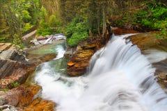Cachoeira do parque nacional de geleira fotos de stock