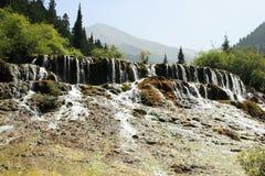 Cachoeira do parque nacional de Huanglong Fotografia de Stock Royalty Free