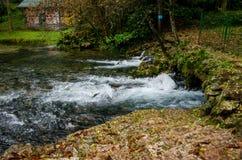 Cachoeira do rio Bosna perto de Sarajevo Imagem de Stock