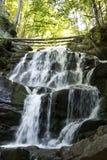 Cachoeira do rio da montanha Imagens de Stock