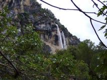 Cachoeira do rio de Borosa, serra de cazorla Jae'n Fotografia de Stock Royalty Free