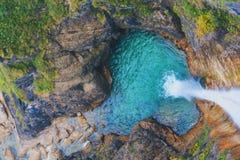 Cachoeira do ` s do castelo de Neuschwanstein imagens de stock royalty free