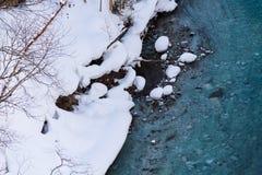 Cachoeira do ` s do inverno de Shirahige em Biei, Hokkaido Fotos de Stock