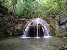 Cachoeira do verão de Crimeia Foto de Stock Royalty Free