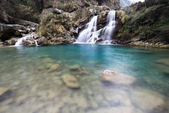Cachoeira dobro imagens de stock royalty free
