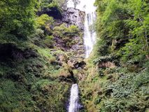 Cachoeira dobro fotos de stock