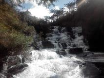 Cachoeira doet caracol - Brazilië stock foto's
