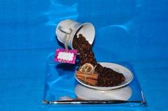 Cachoeira dos feijões de café Imagem de Stock Royalty Free