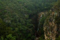 Cachoeira dos mosquitos em Chapada Diamantina imagem de stock royalty free