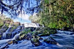Cachoeira dos Venancios. Waterfall located in Rio Grande do Sul, Brazil Royalty Free Stock Photos