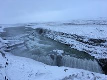 Cachoeira dourada de Islândia GullFoss, círculo dourado Fotos de Stock