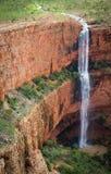 cachoeira dupla Un-nomeada da gota, escala de Cockburn, Kimberley Fotos de Stock Royalty Free