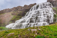 Cachoeira Dynjandi, Islândia Foto de Stock Royalty Free