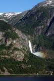 Cachoeira e arco-íris Foto de Stock Royalty Free