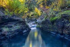 Cachoeira e lagoa Imagem de Stock