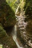 Cachoeira em Adigea, Cáucaso norte Fotos de Stock