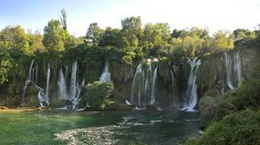 Cachoeira em Bosna e em Heregovina imagens de stock royalty free