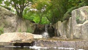 A cachoeira em Hamburgo planten o parque dos blomen do un filme