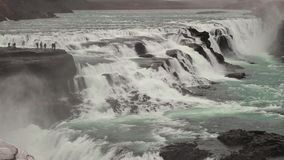 Cachoeira em Islândia video estoque