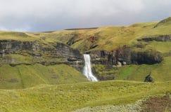 Cachoeira em Islândia Fotografia de Stock