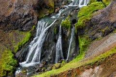 Cachoeira em Islândia Foto de Stock Royalty Free