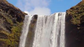 Cachoeira em Isl?ndia video estoque