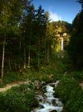 Cachoeira em Julian Alps, Eslovênia. fotografia de stock royalty free