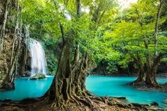 Cachoeira em Kanchanaburi, Tailândia de Erawan Imagem de Stock Royalty Free