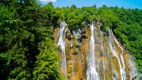 Cachoeira em lagos Plitvice Fotos de Stock