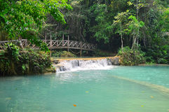 Cachoeira em Laos fotografia de stock royalty free