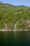 Cachoeira em Lysefjord Foto de Stock