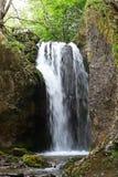 Cachoeira em montanhas de Tesnei, Romênia Fotos de Stock Royalty Free