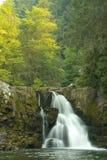Cachoeira em montanhas fumarentos imagem de stock royalty free