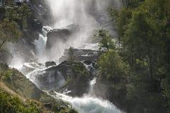 Cachoeira em Noruega Fotos de Stock