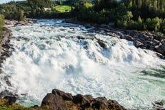 Cachoeira em Noruega do norte Foto de Stock Royalty Free