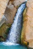 Cachoeira em oásis Chebika da montanha, Tunísia, África fotografia de stock