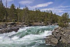 Cachoeira em Ottadalen Fotografia de Stock