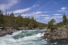 Cachoeira em Ottadalen Foto de Stock Royalty Free