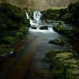 Cachoeira em Sgwd Isaf Clun-Gwyn Imagens de Stock