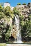 Cachoeira em um lago em França Foto de Stock