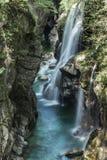 Cachoeira em Val Grande, Piedmont Fotografia de Stock