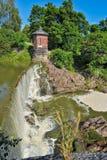Cachoeira em Vanhankaupunginkoski, Helsínquia Imagens de Stock Royalty Free