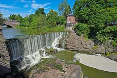 Cachoeira em Vanhankaupunginkoski, Helsínquia Imagem de Stock Royalty Free